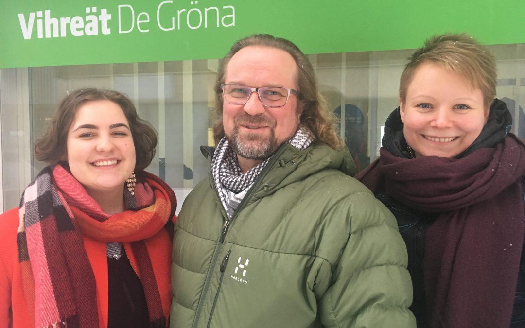 Savo-Karjalan Vihreiden listalle viisi uutta ehdokasta